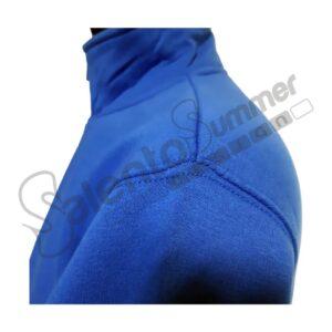Felpa Mezza Zip Royal Felpata Spalla Cotone Poliestere Salento Summer Design Ruffano