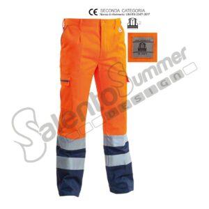 Pantalone Fustagno Invernale Arancio Blu Reflexite Salento Summer Design Ruffano