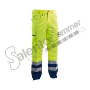 Pantalone Protezione Civile Alta Visibilità Giallo Rinforzo Reflexite Salento Summer Design Ruffano