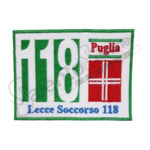Patch 118 Lecce Soccorso Puglia Ricamo Avanti Salento Summer Design Ruffano