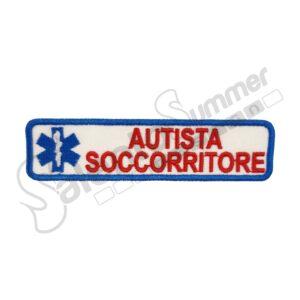 Patch Ricamo Autista Soccorritore Croce Esculapio Soccorso Sanitario Salento Summer Design Ruffano