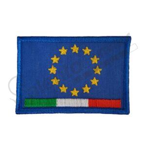 Patch Ricamo bandiera europa italia ricamificio Salento Summer Design Ruffano