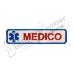 Patch Ricamo Medico Croce Esculapio Soccorso Sanitario Salento Summer Design Ruffano