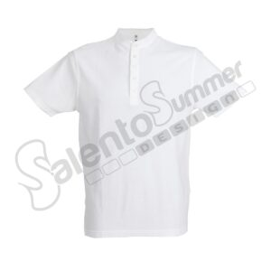 Polo Cotone Piquet Coreana Kuwait Bianco Salento Summer Design_Ruffano