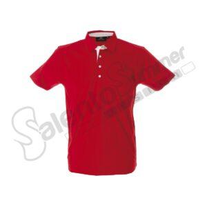 Polo Valencia Cotone Jersey Pettinato Rosso Salento Summer Design Ruffano