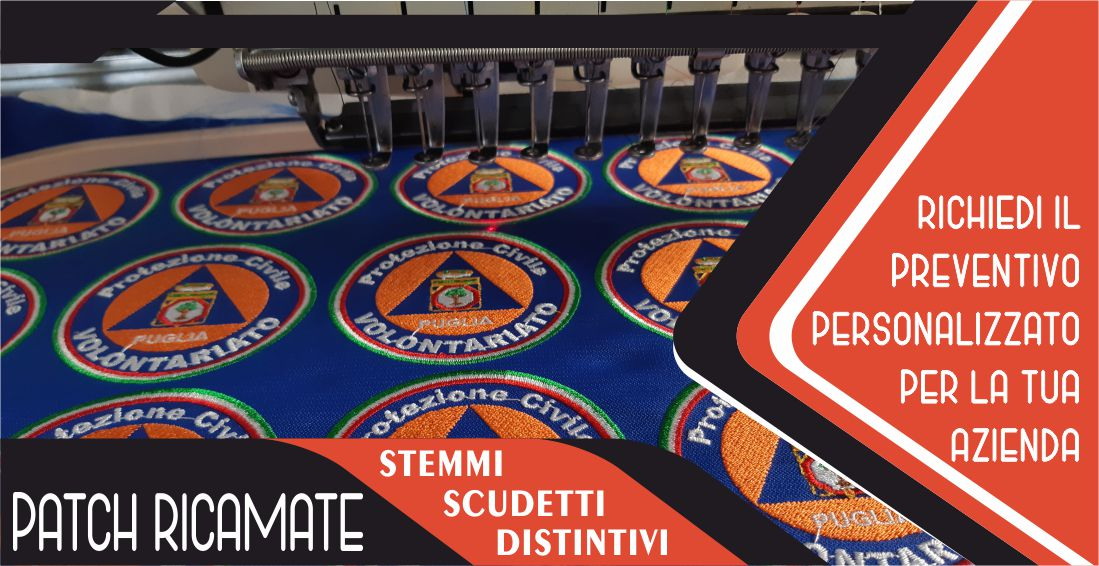 Ricamificio Patch Ricamate Scudetto Salento Summer Design Ruffano