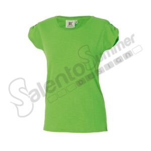 T-Shirt-Donna-Girocollo-Perth-Lady-Cotone-Slubby-Effetto-Fiammato-Light-Green