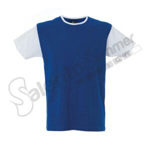 T-Shirt Uomo Girocollo Lisbona Cotone Pettinato Royal Bianco Salento Summer Design Ruffano