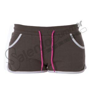 Pantalone Corto Donna Creta Lady French Terry Elasticizzato Tasche DarkGrey Salento Summer Design Ruffano