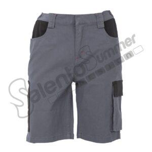 Pantalone Corto Multitasche Suez Uomo Elasticizzato Grigio Salento Summer Design Ruffano