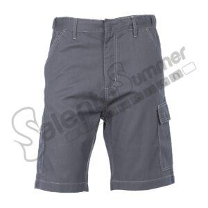 Pantalone Corto Multitasche Toledo Uomo Poliestere Cotone Grigio Salento Summer Design Ruffano