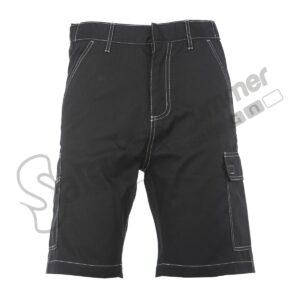 Pantalone Corto Multitasche Toledo Uomo Poliestere Cotone Nero Salento Summer Design Ruffano