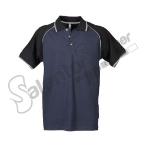 Polo Chicago Piquet Elasticizzata Bottoni Rifrangente Navy