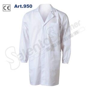 Camice Lavoro Poliestere Cotone Polsini Elastico Bottoni Tasche Bianco Salento Summer Design Ruffano