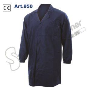 Camice Lavoro Poliestere Cotone Polsini Elastico Bottoni Tasche Navy Salento Summer Design Ruffano