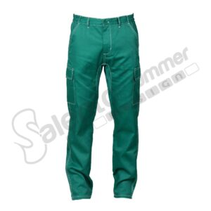 Pantalone Lungo Multitasche Bucarest Verde Poliestere Cotone Salento Summer Design Ruffano