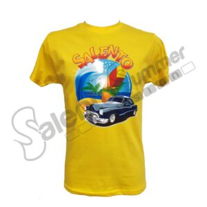 T-Shirt Maglietta Giallo Cotone Unisex Vacanze Salento Summer Design Ruffano